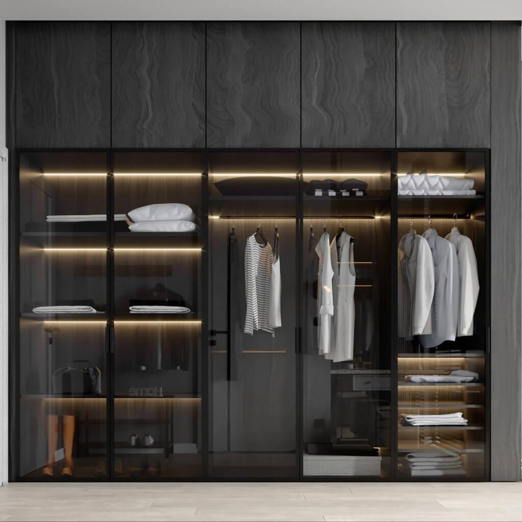 Interior Design trendy and minimalistic living room - cgi visualization(8)