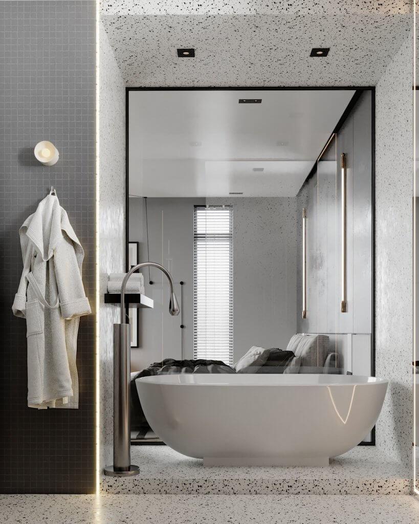 Interior Design trendy and minimalistic living room - cgi visualization(9)