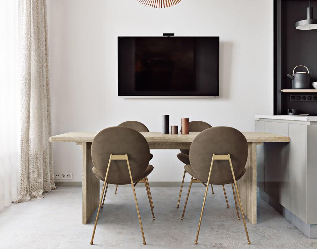 Light flat interior design - cgi visualization (1)