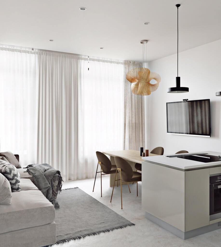 Light flat interior design - cgi visualization (2)