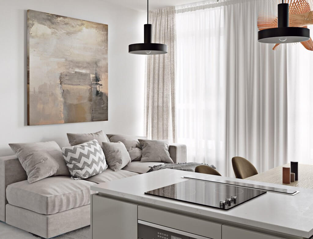 Light flat interior design - cgi visualization (4)