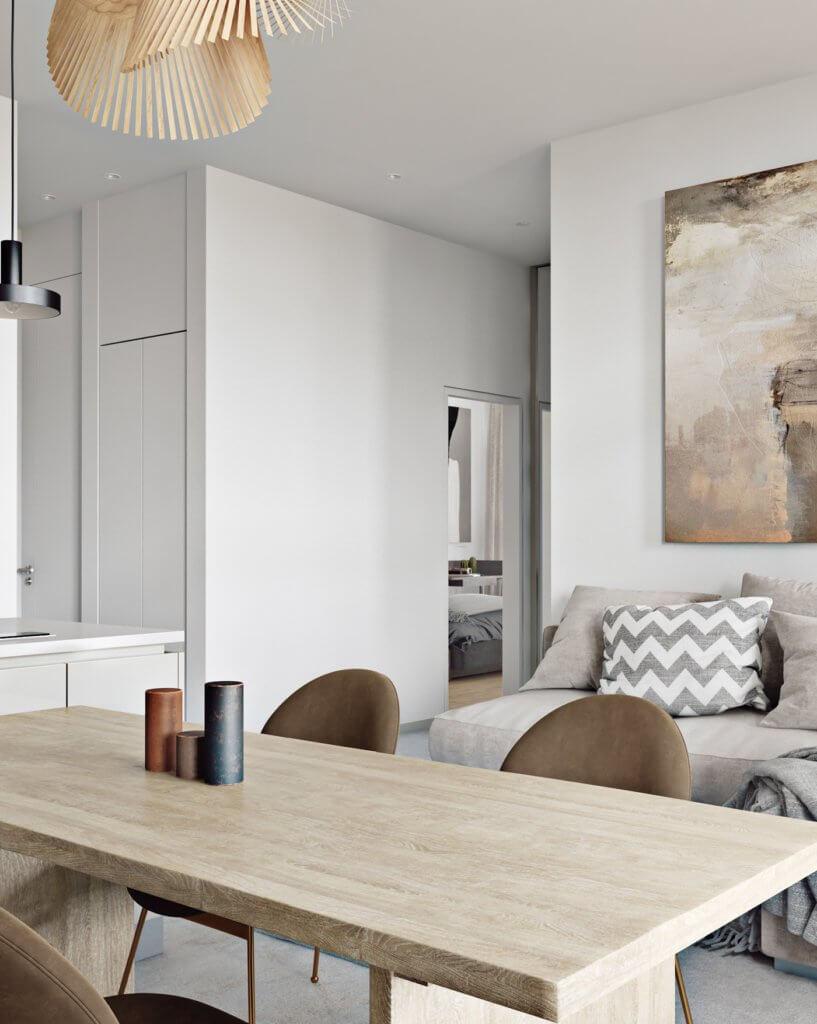 Light flat interior design - cgi visualization (5)