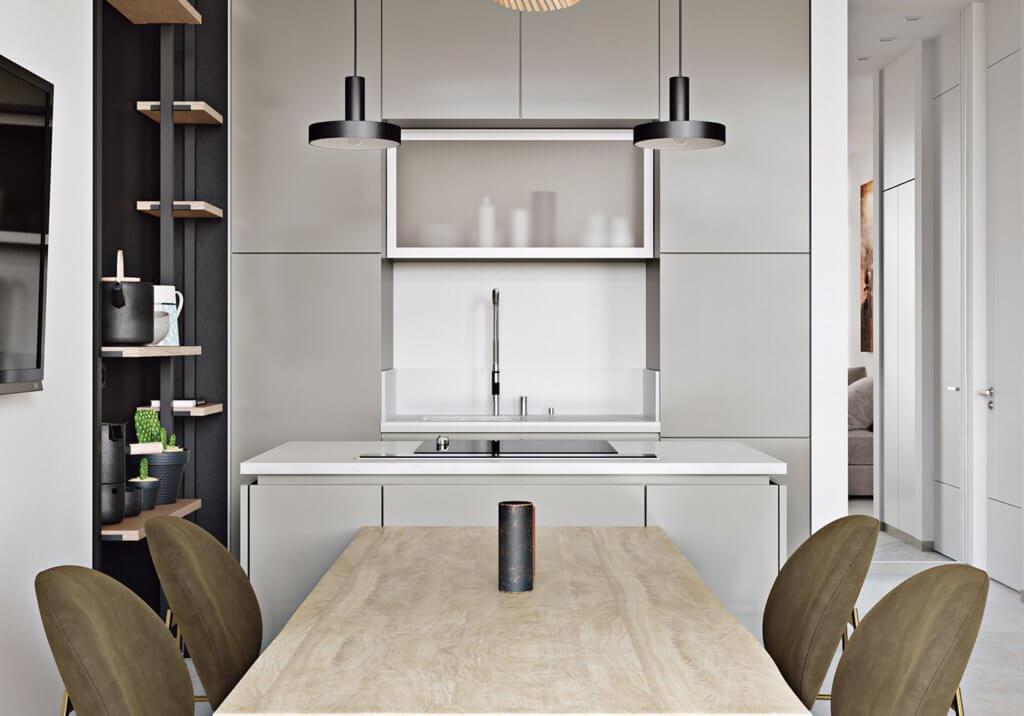 Light flat interior design - cgi visualization (8)