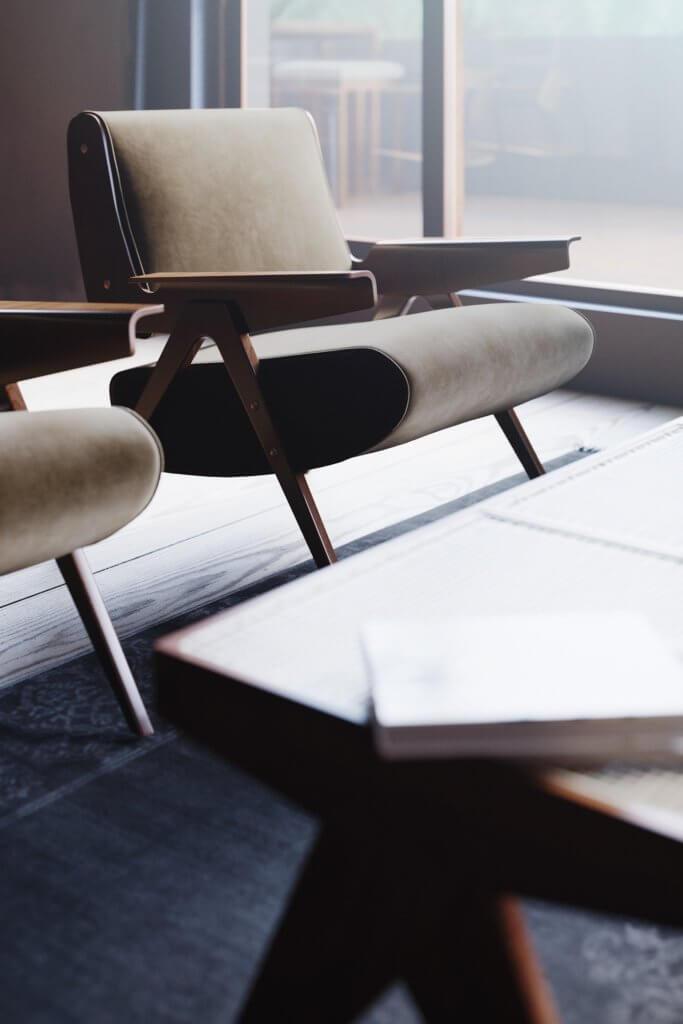 Retro Designer Apartment interior design - cgi visualization 12