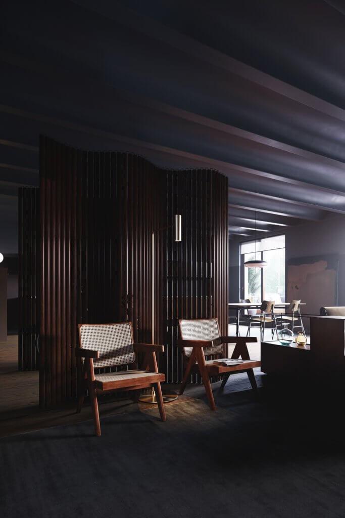 Retro Designer Apartment interior design - cgi visualization 13