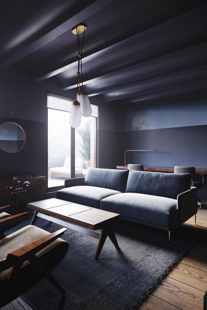 Retro Designer Apartment interior design - cgi visualization 3