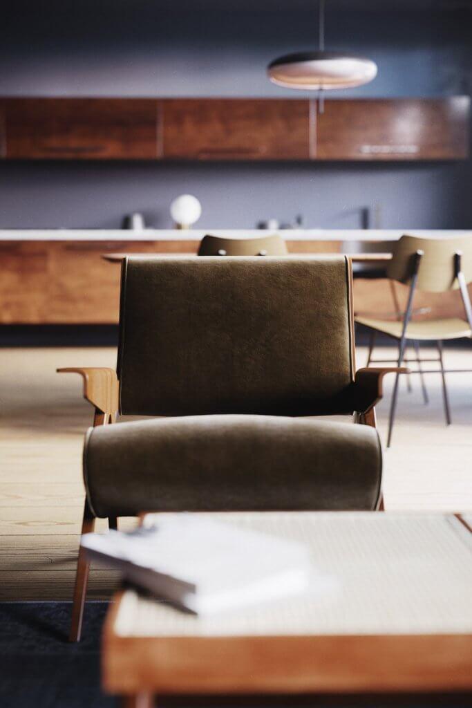 Retro Designer Apartment interior design - cgi visualization 6