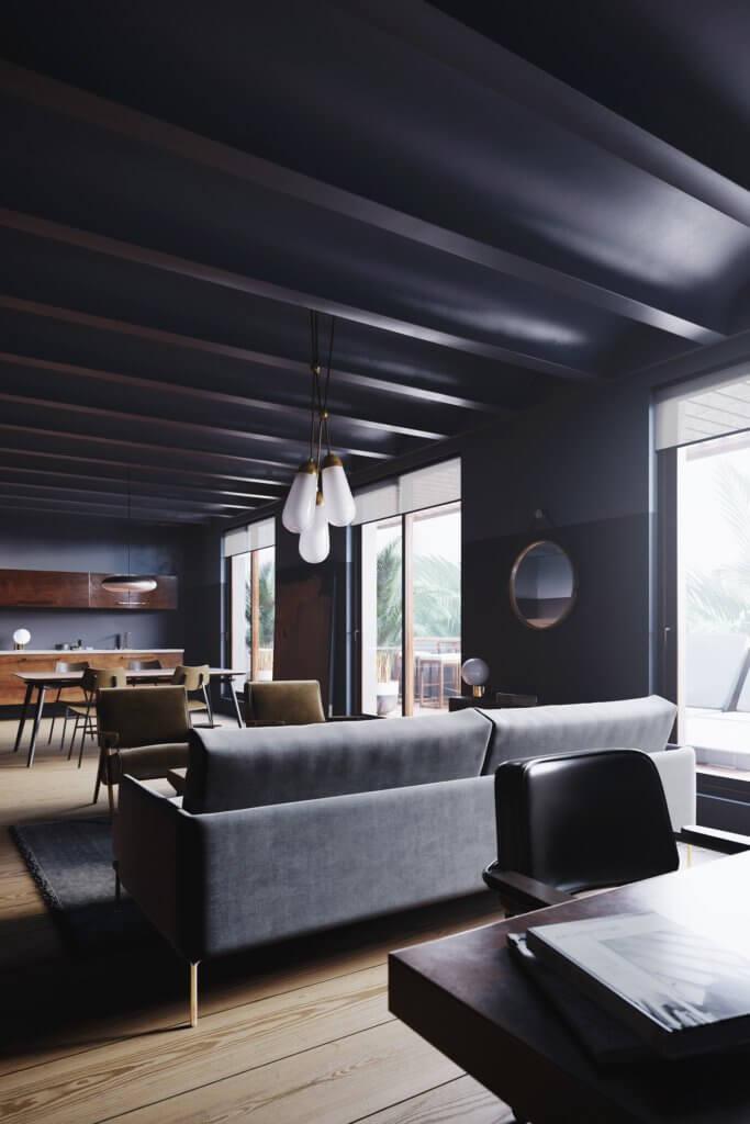 Retro Designer Apartment interior design - cgi visualization 7