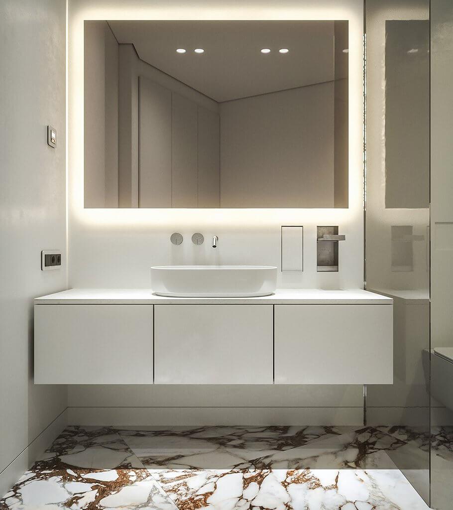Clean living apartment design header - cgi visualization