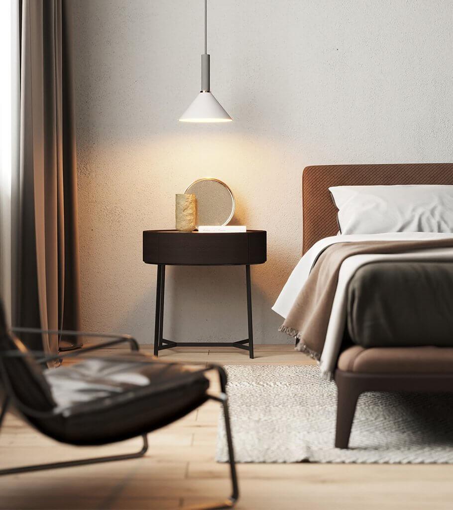 Minimal Master Bedroom header - cgi visualization 4