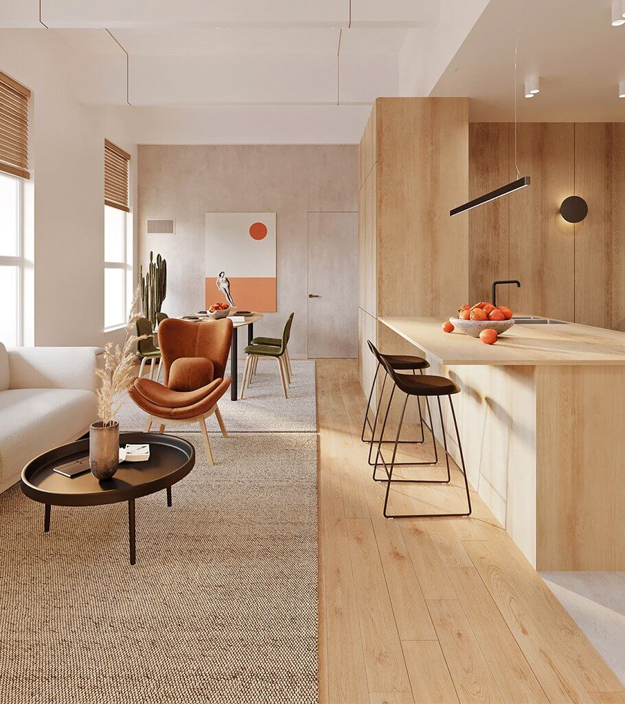 Brooklyn Apartment interior design header - cgi visualization