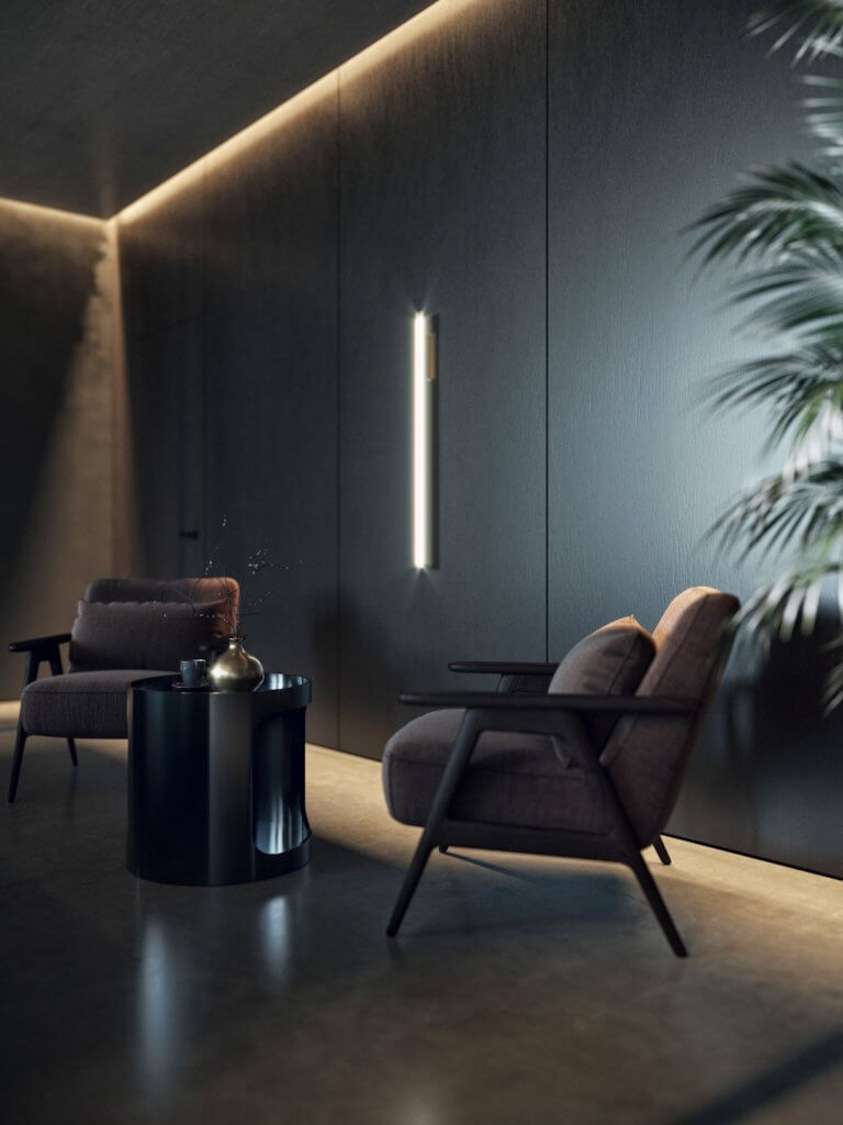 Dark bedroom design inspiration - cgi visualization