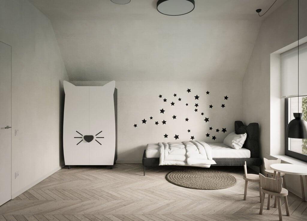 Ivory stylish Apartment interior design - cgi visualization