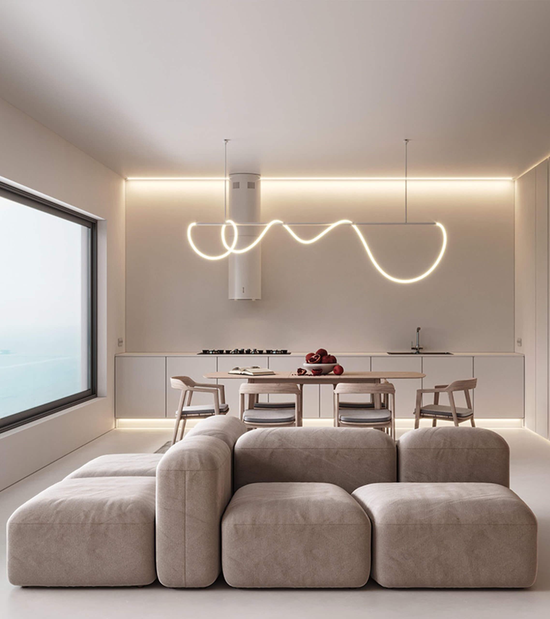 Ocean view interior design apartment - cgi visualization
