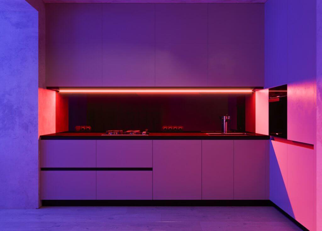 Pastel violet interior - cgi visualization