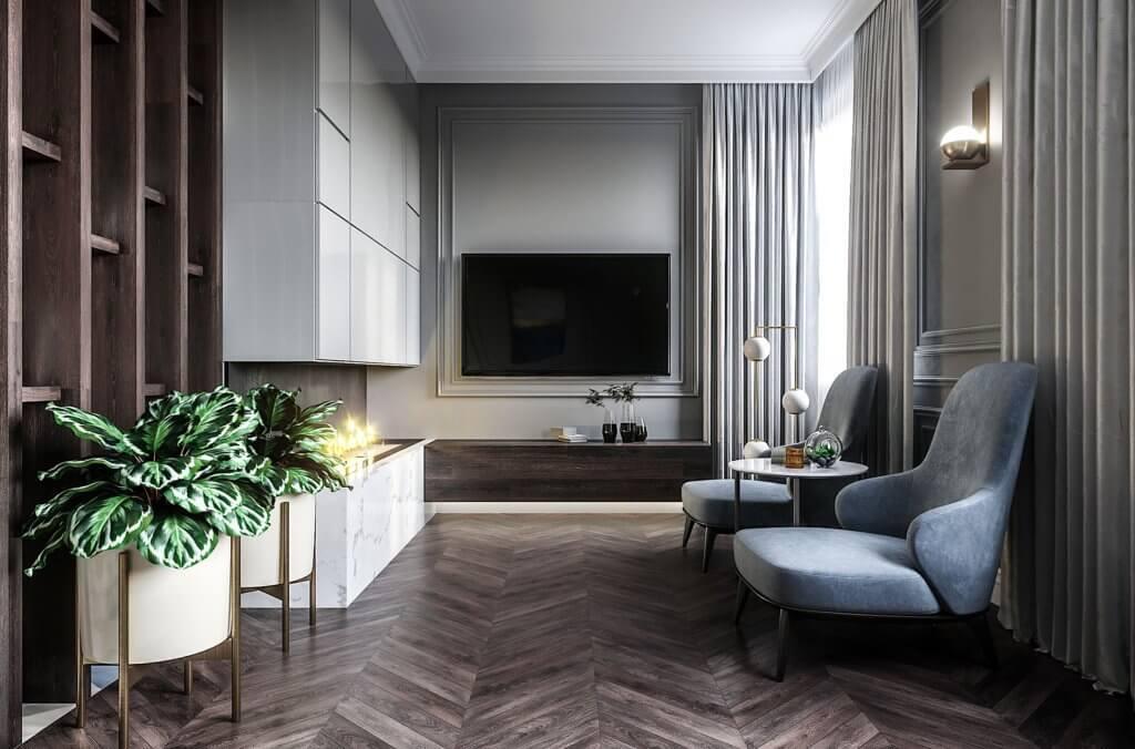 Classical Apartment interior design - cgi visualization