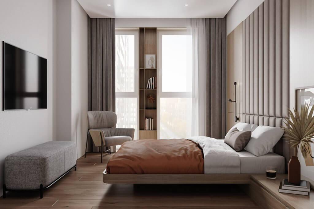Composers residence interior design - cgi visualization