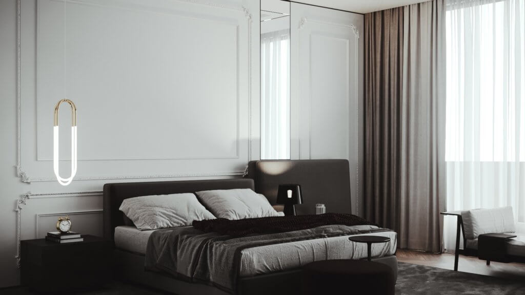 Elegant and classic interior design - cgi visualization