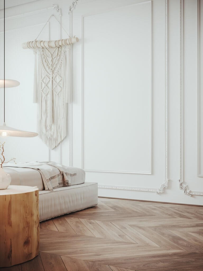 Stylish warm & cozy loft interior design - cgi visualization