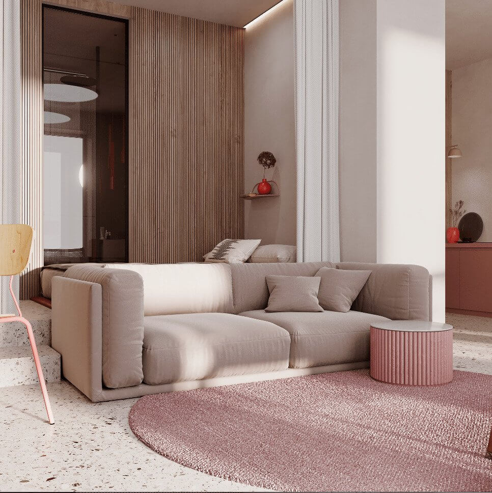 Dreams of pink interior - cgi visualization 12