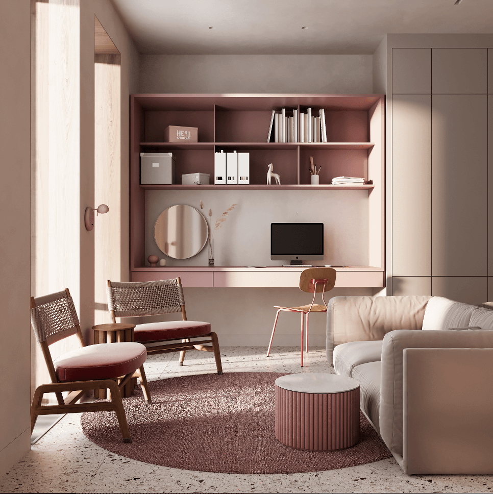 Dreams of pink interior - cgi visualization 13