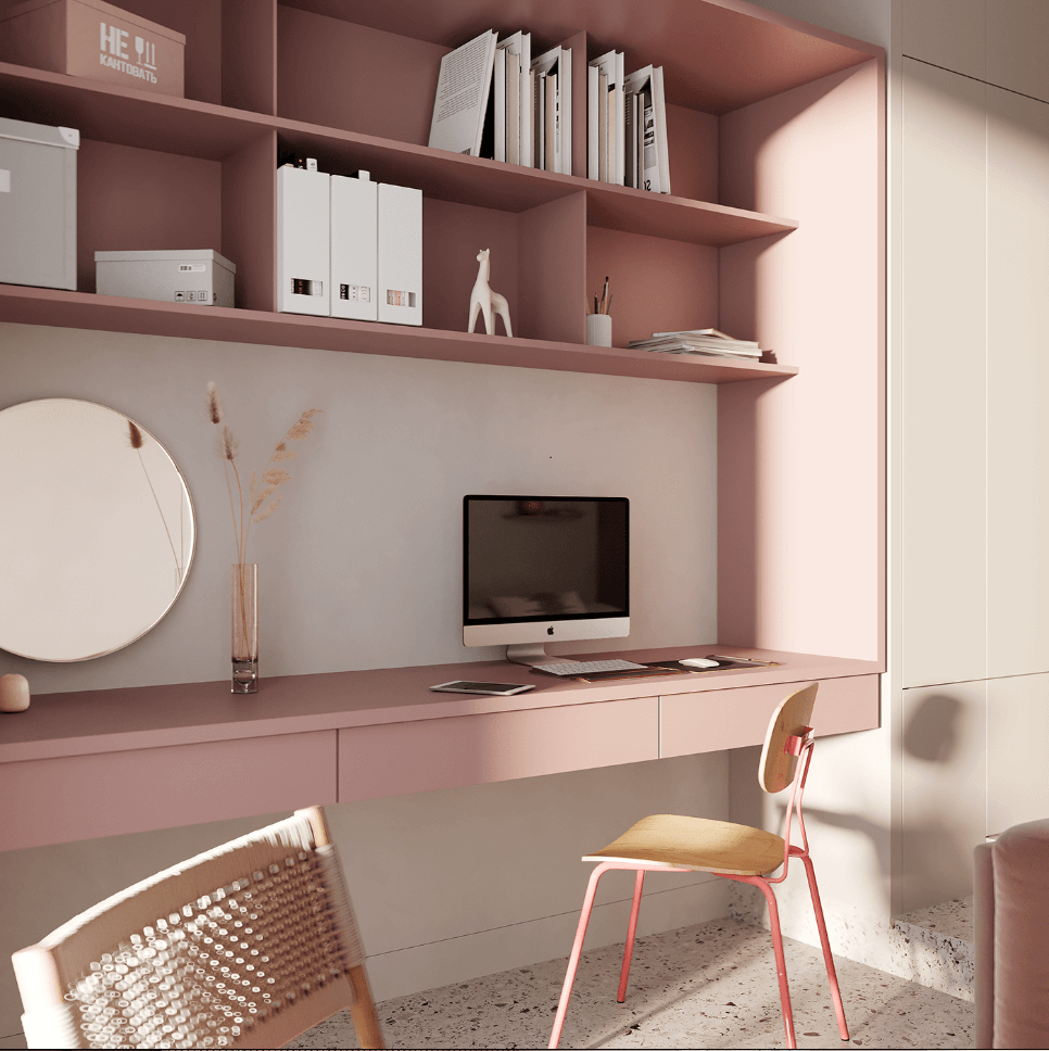 Dreams of pink interior - cgi visualization 2