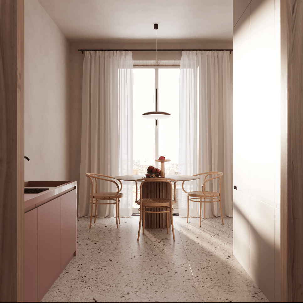 Dreams of pink interior - cgi visualization 5