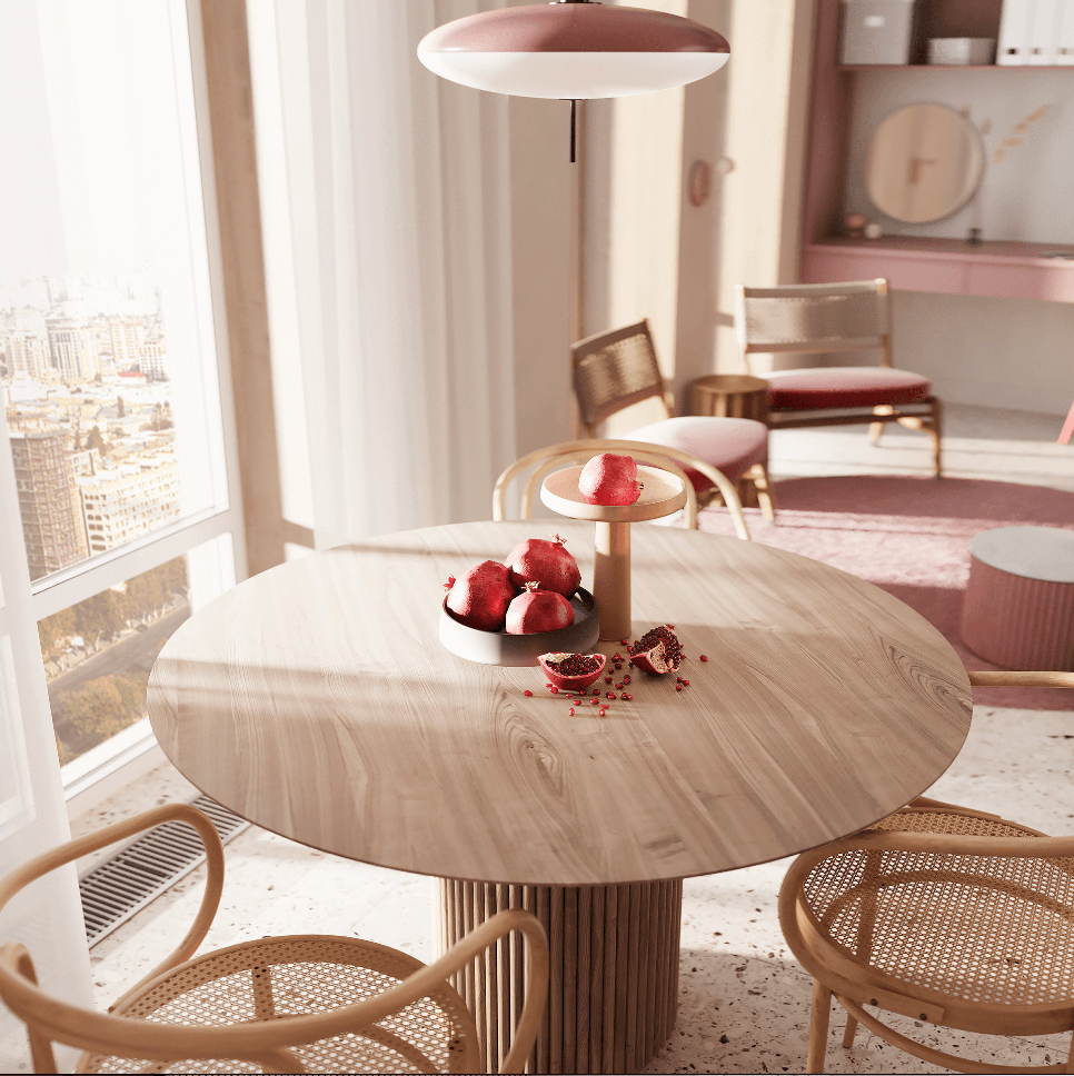 Dreams of pink interior - cgi visualization 8