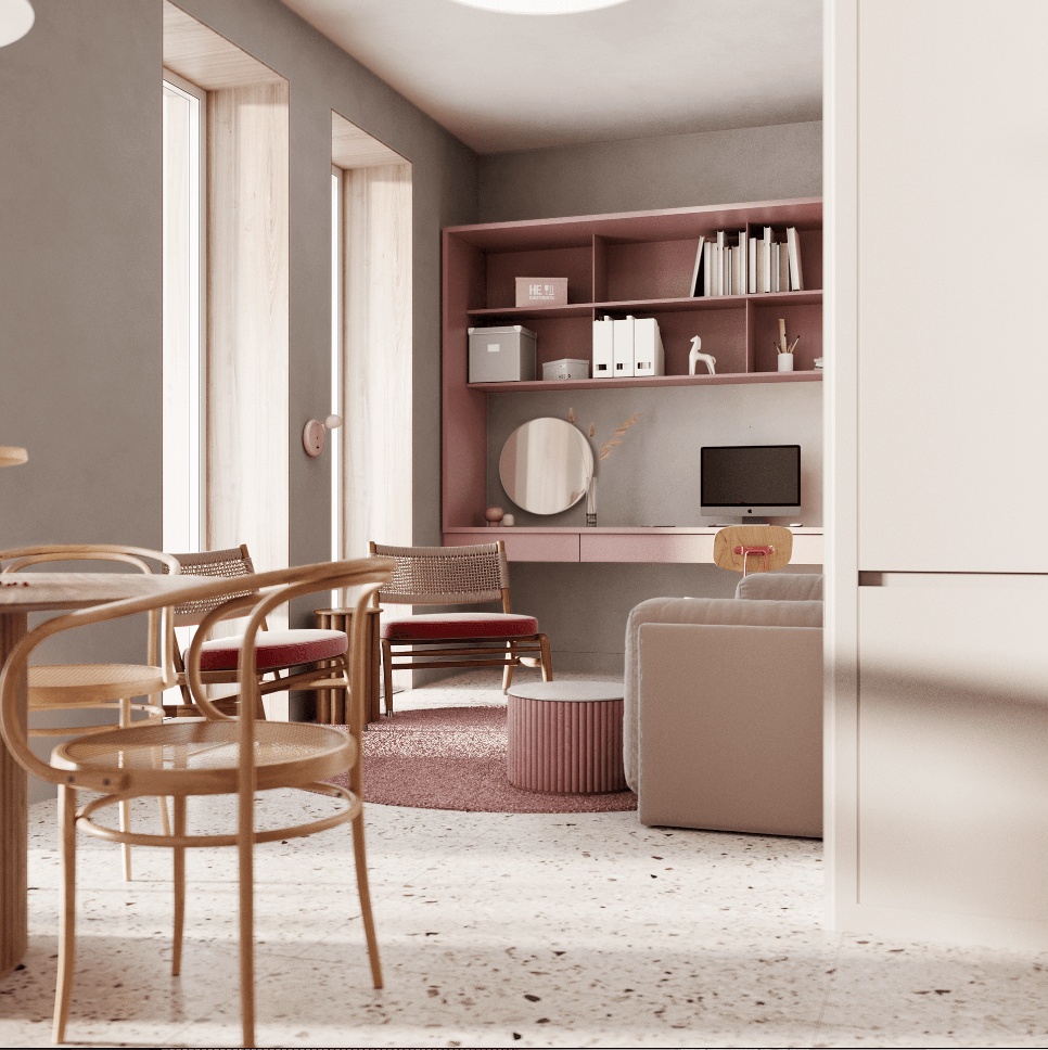 Dreams of pink interior - cgi visualization 9
