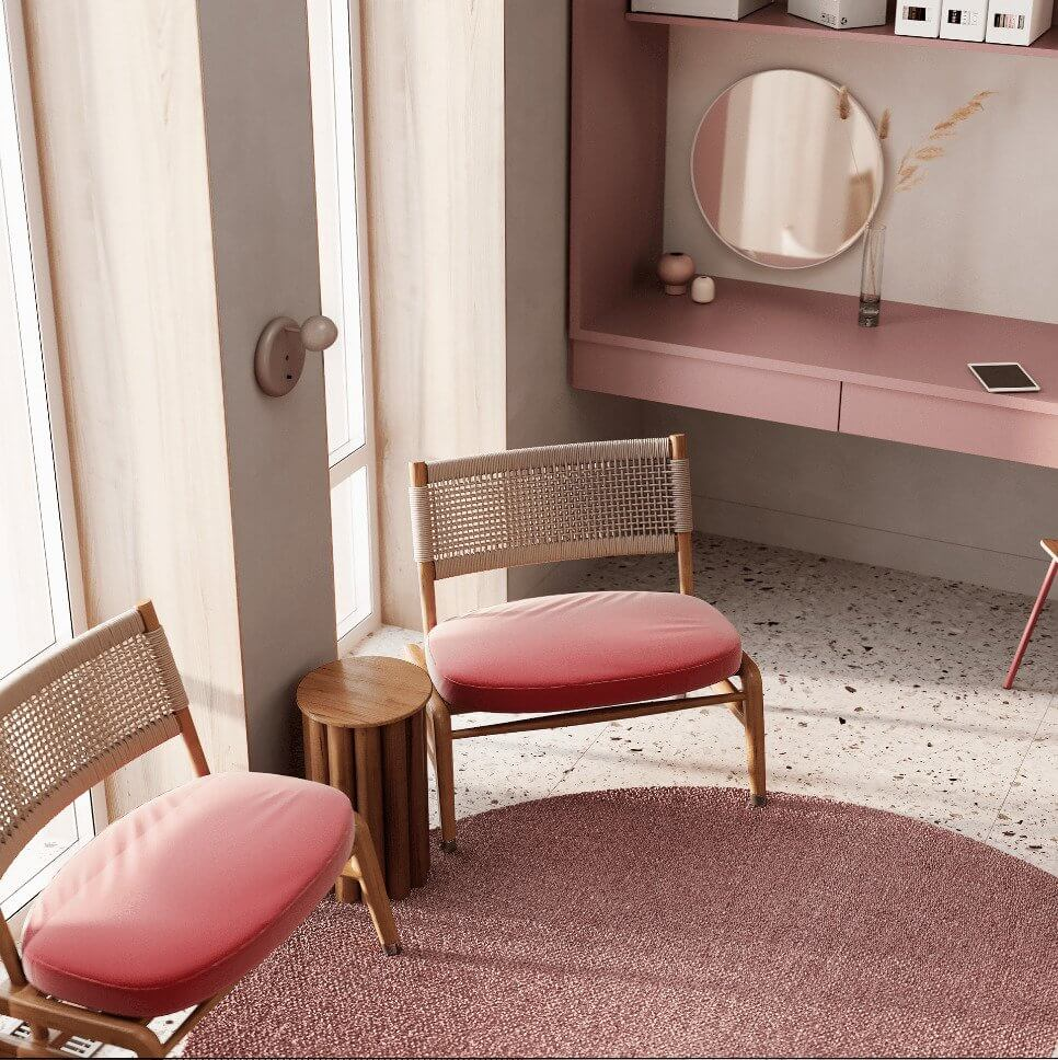 Dreams of pink interior - cgi visualization