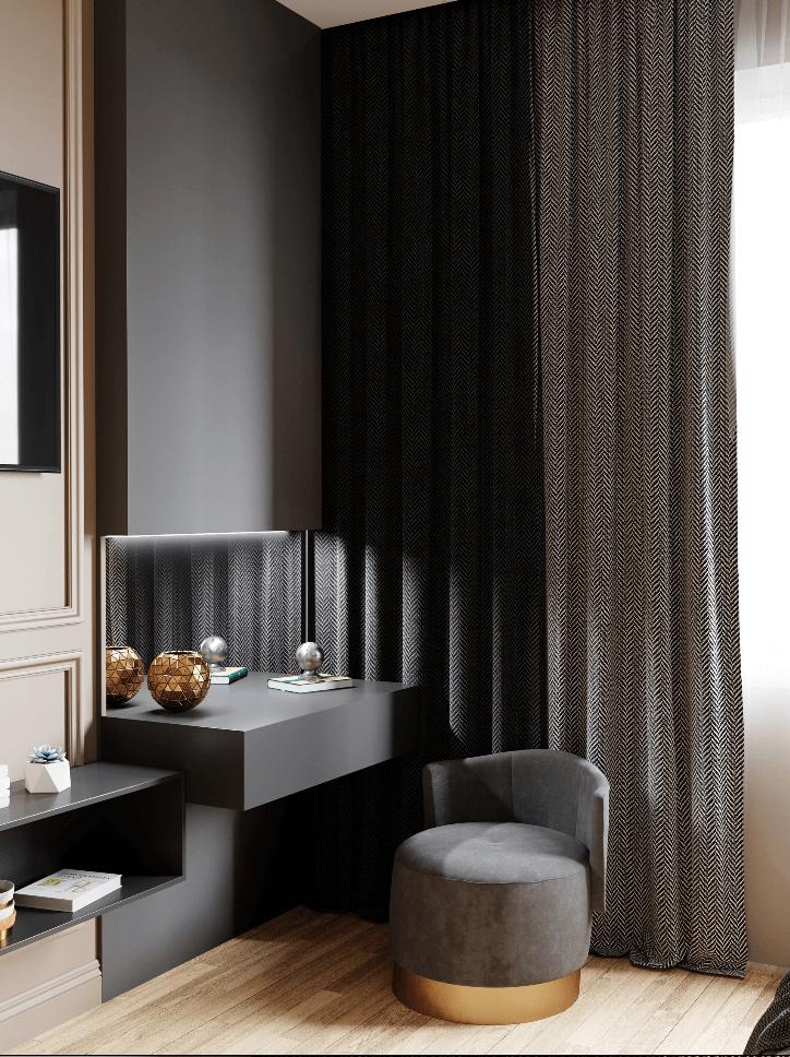 Small bedroom in pleasant colors - cgi visualization 5