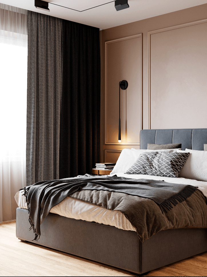 Small bedroom in pleasant colors - cgi visualization 6