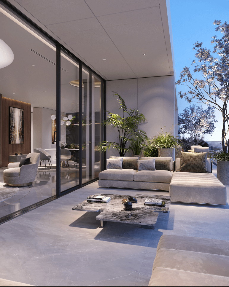 Luxurious and stylish penthouse design - cgi visualization 10