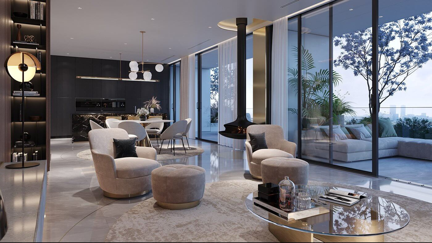 Luxurious and stylish penthouse design - cgi visualization 3