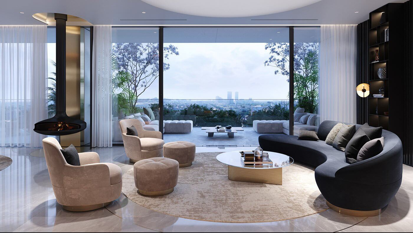 Luxurious and stylish penthouse design - cgi visualization 4