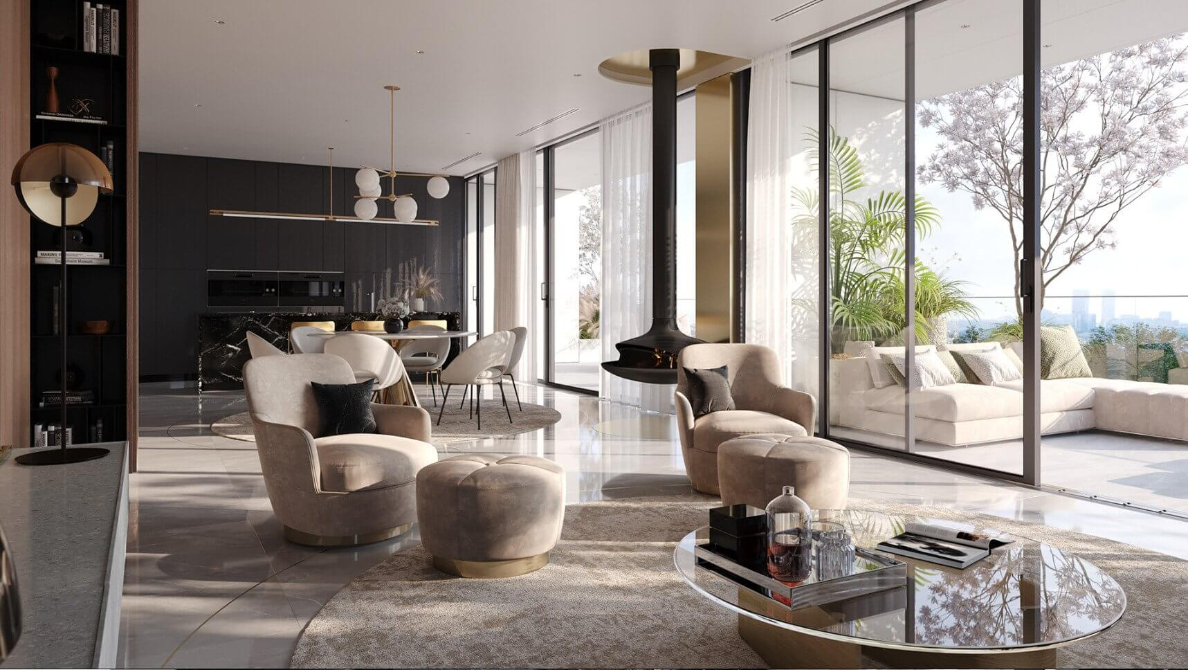 Luxurious and stylish penthouse design - cgi visualization 5