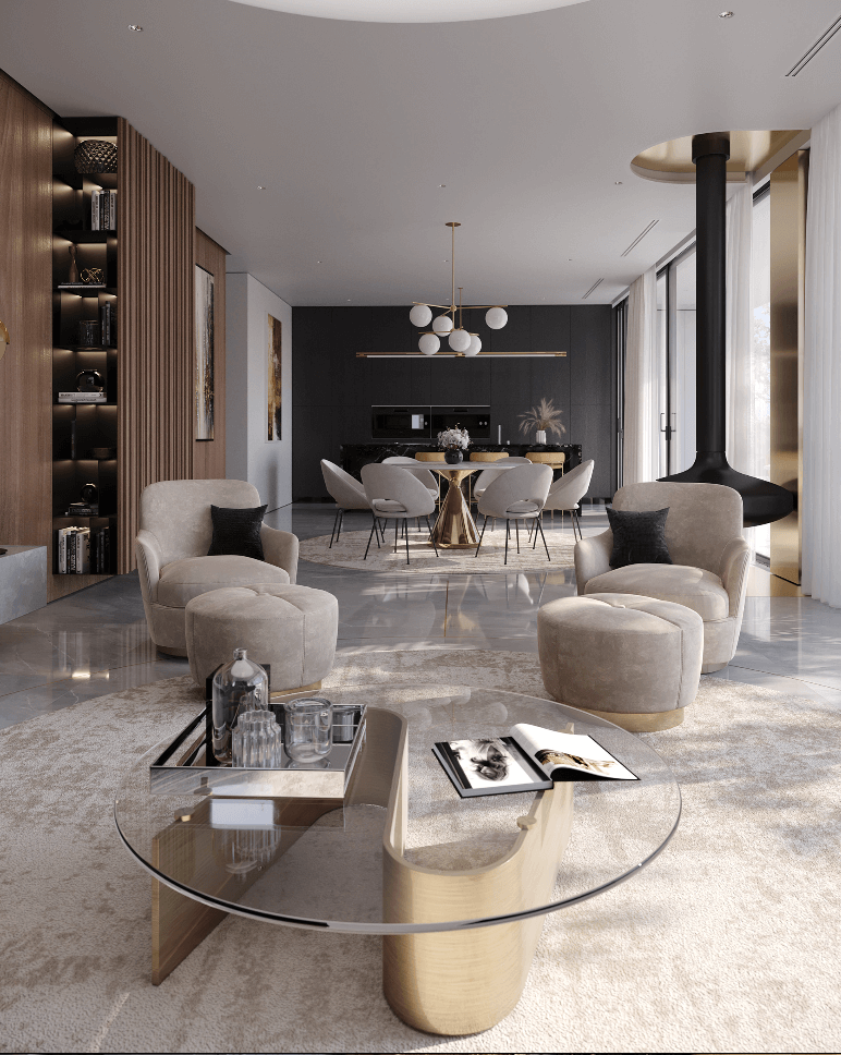 Luxurious and stylish penthouse design - cgi visualization 6