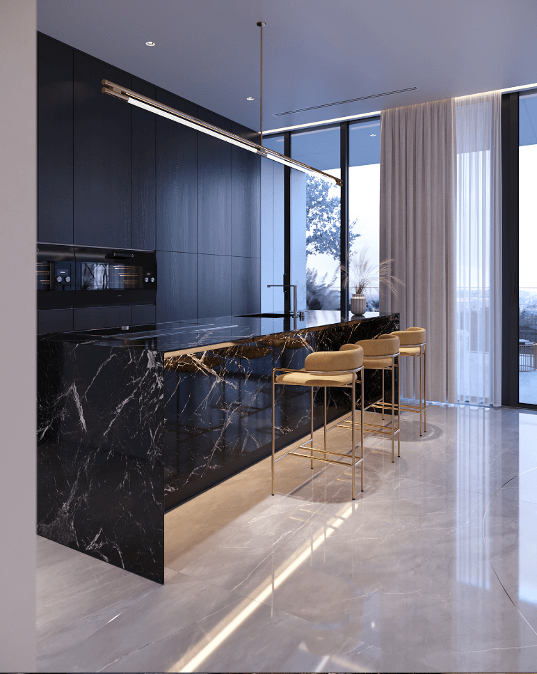 Luxurious and stylish penthouse design - cgi visualization 8