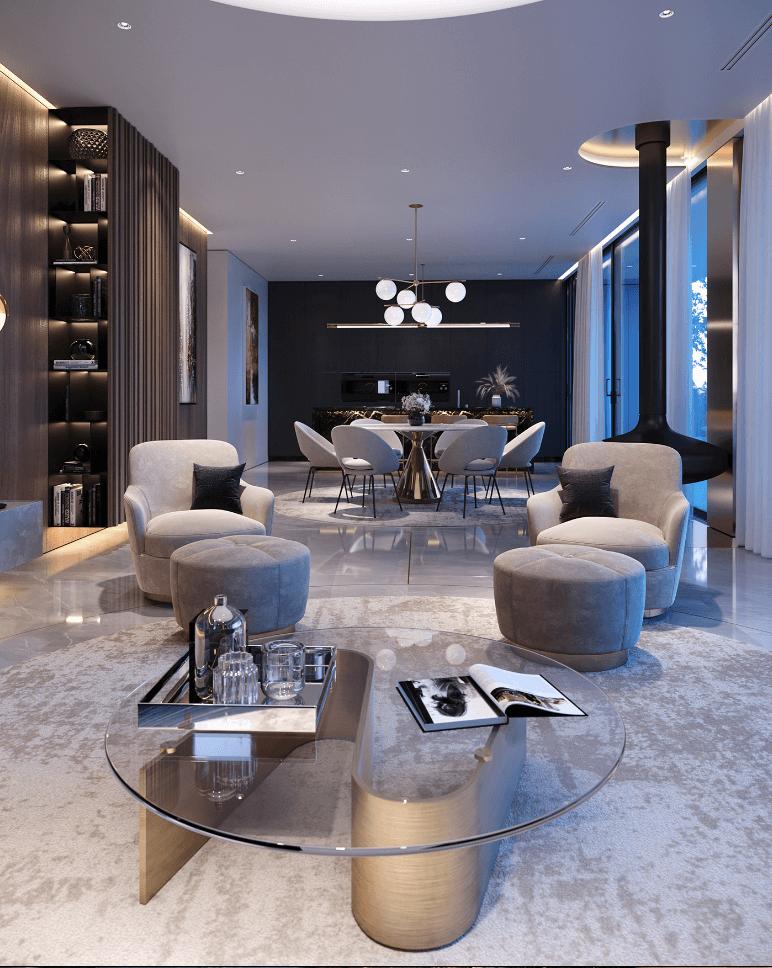 Luxurious and stylish penthouse design - cgi visualization 9